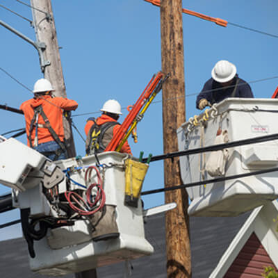 Men Working on Powerlines